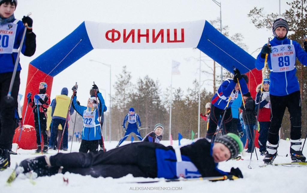 Финиш лыжные гонки Сургут