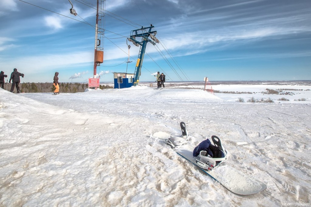Горнолыжный спуск в Сургуте