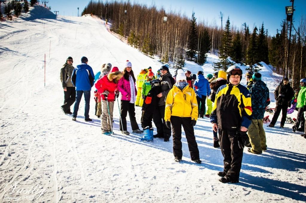 Трехгорье база Нижневартовск горнолыжный спуск