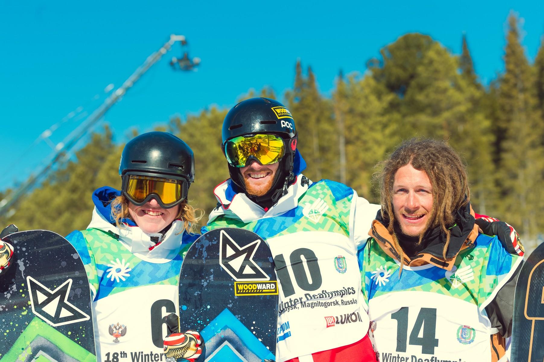 Сноубордисты Сурдлимпийские игры слоупстайл