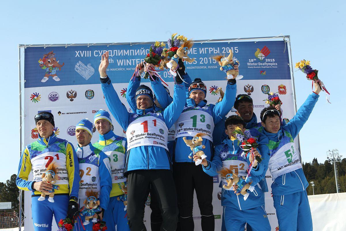 Сборная Россия по лыжным гонкам на Сурдлимпийских играх в Ханты-Мансийске
