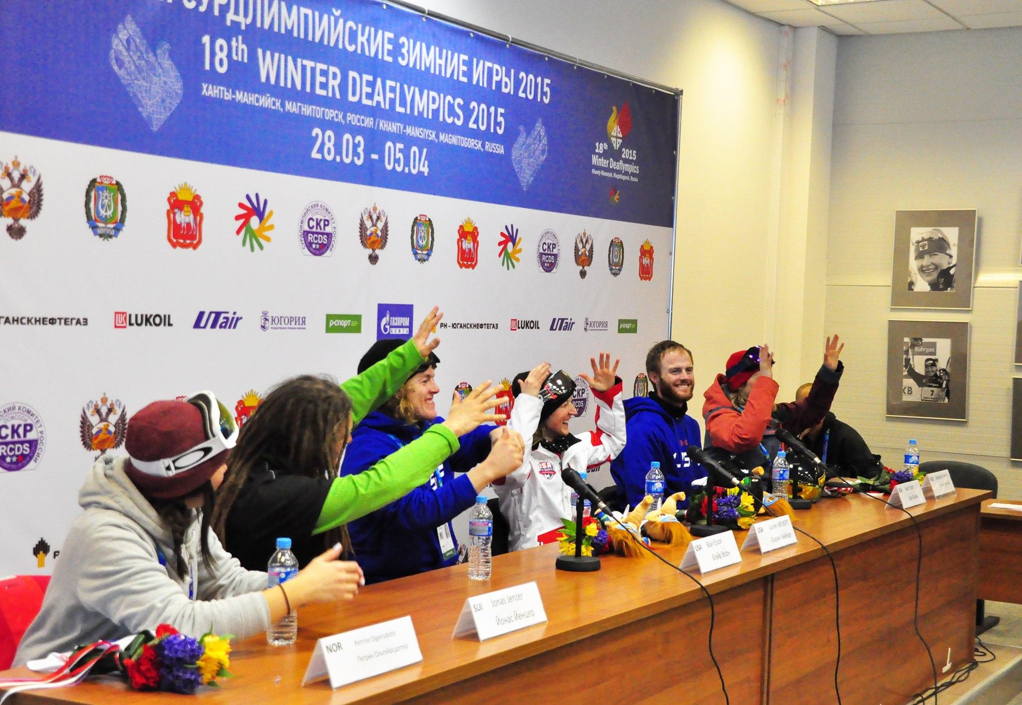 Пресс - конференция Сурдлимпийские игры в Ханты-Мансийске