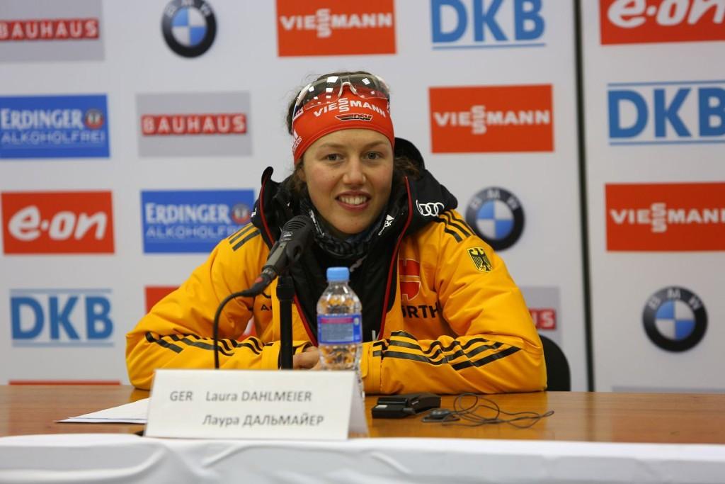 Лаура Дальмайер  на пресс-конференции в Ханты-Мансийске