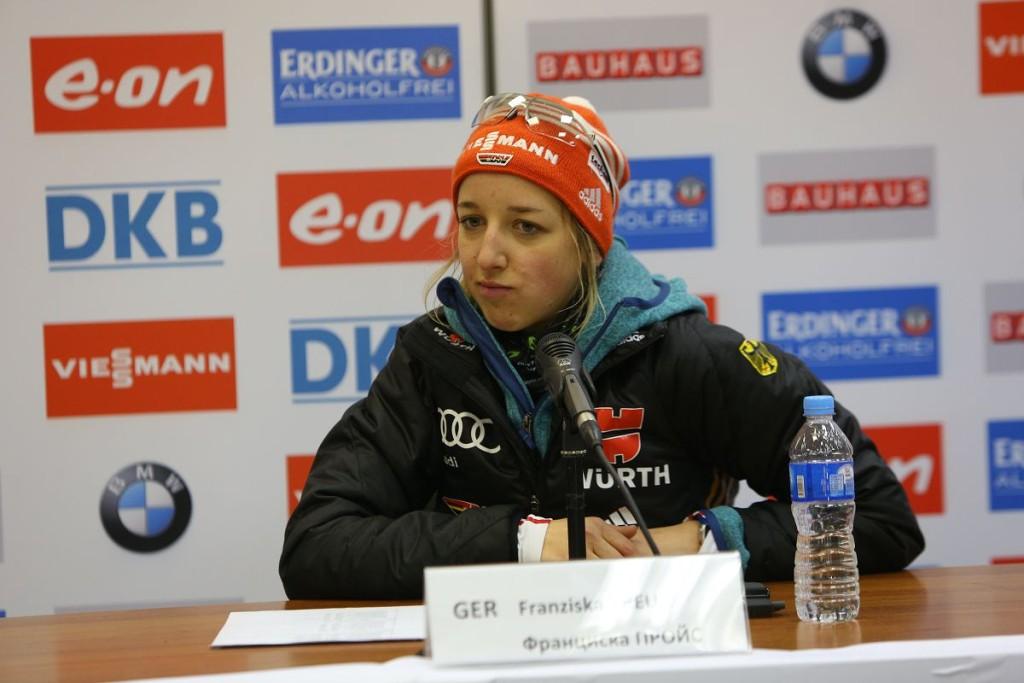 Франциска Пройсс в Ханты-Мансийске на биатлоне