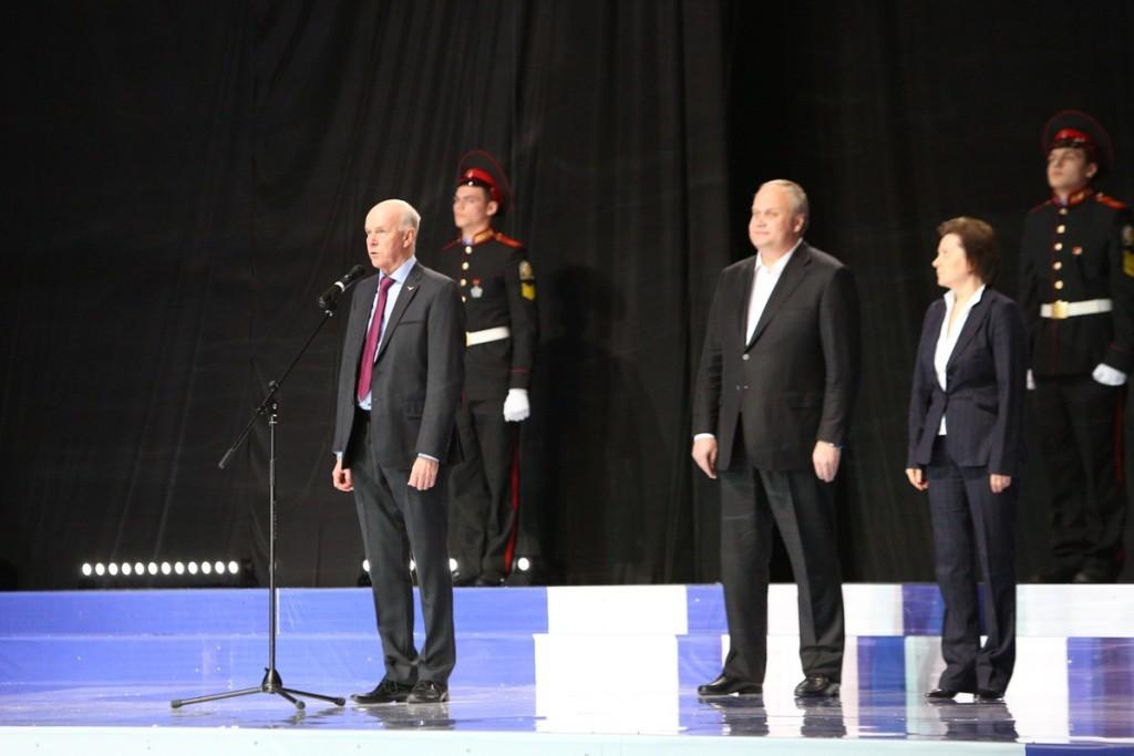 Выступление официальных лиц открытие биатлона