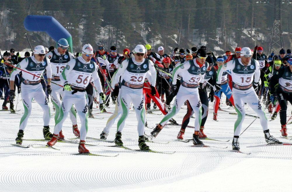 Югорский лыжный марафон фото