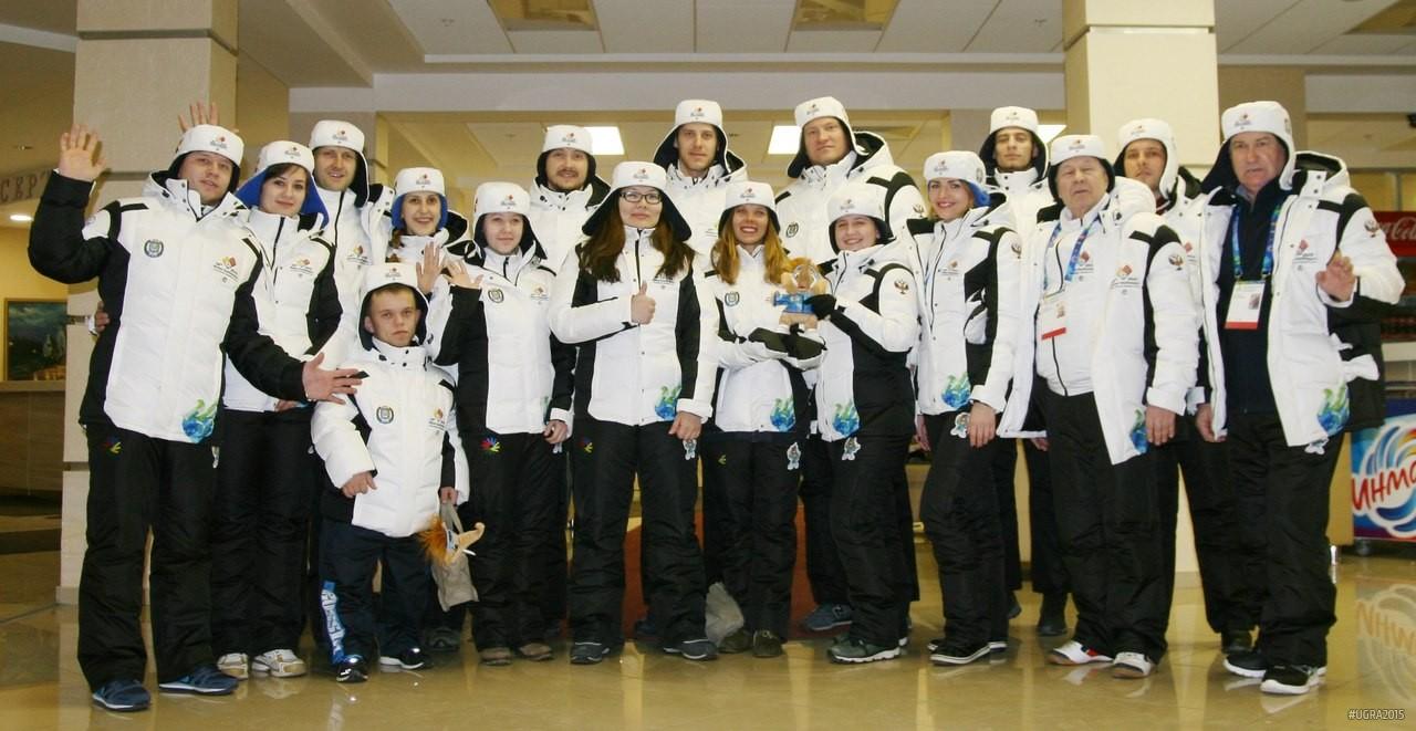 Участники эстафеты сурдлимпийского огня