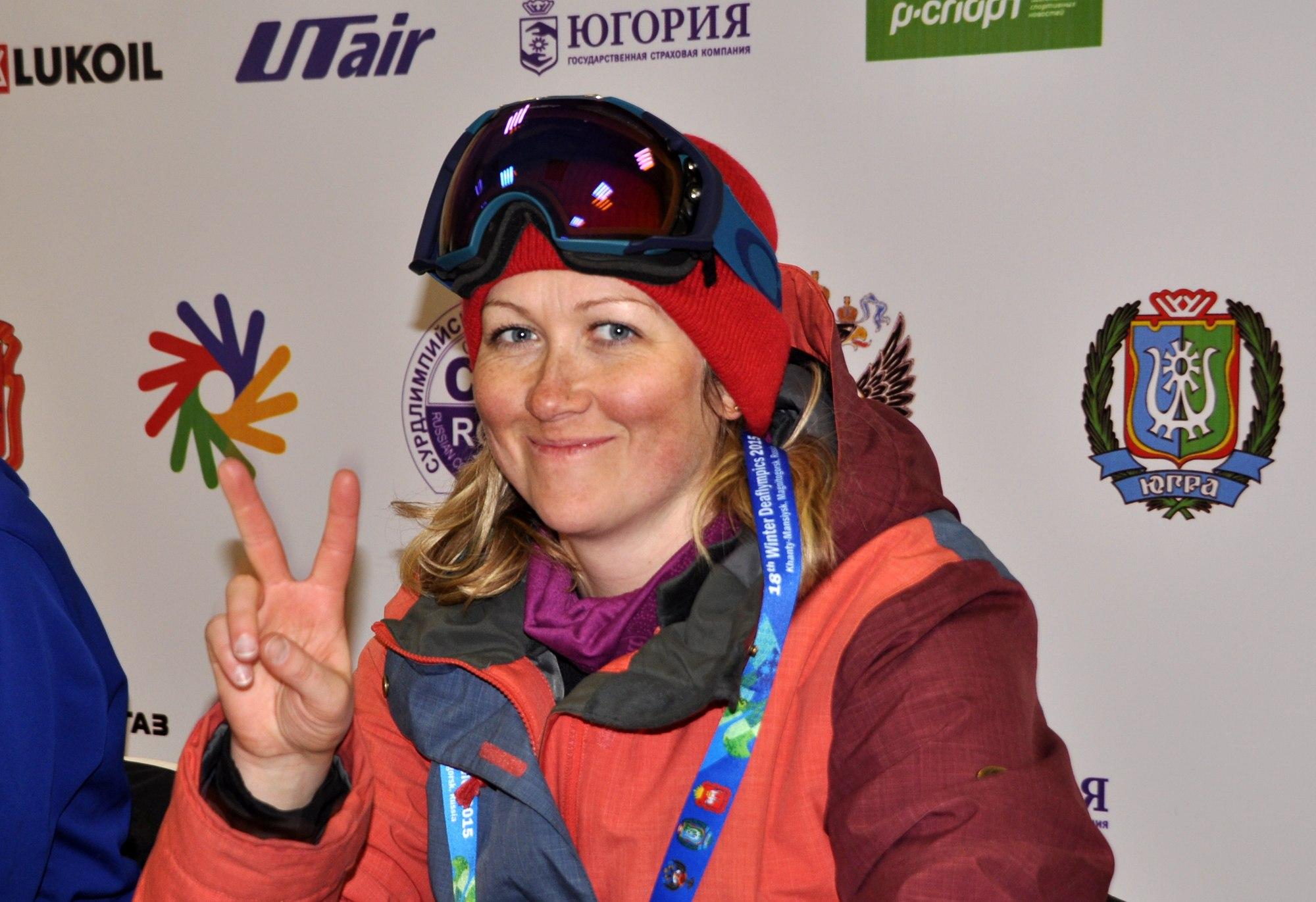 российская сноубордистка Светлана Анисимова