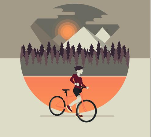 Велосипед иллюстрация
