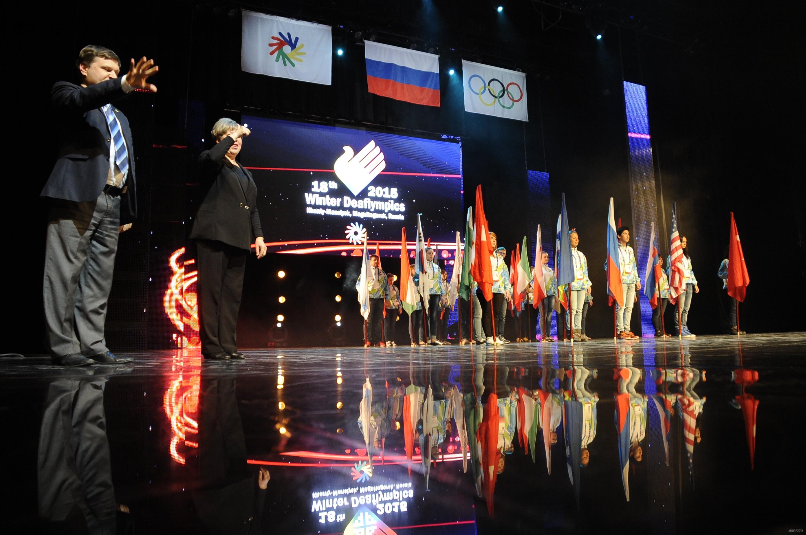 Церемония закрытия Сурдлимпийских игр 2015 года в Ханты-Мансийске
