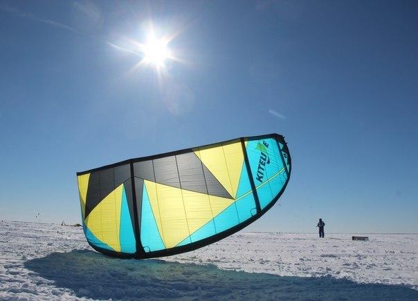 Зимний кайтсёрфинг ХМАО