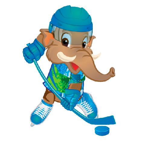 Символ Сурдлимпийских игр мамонтенок хоккеист