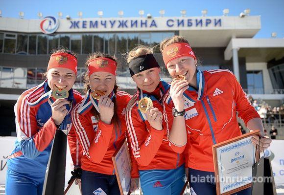 Сборная Новосибирской области по биатлону женщины