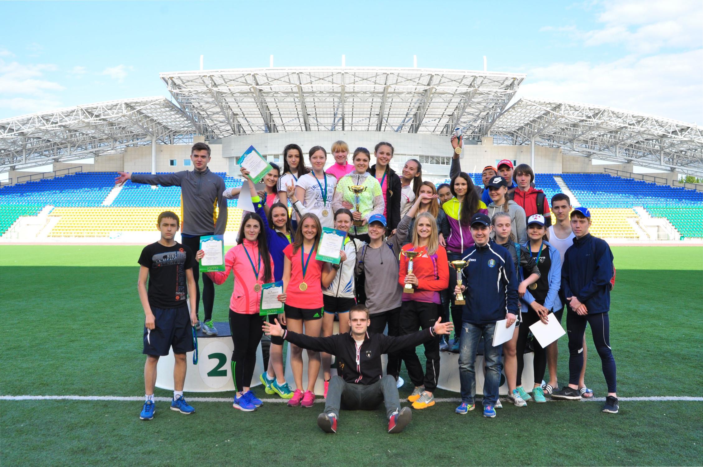 Участники и призеры чемпионат округа по легкой атлетике.