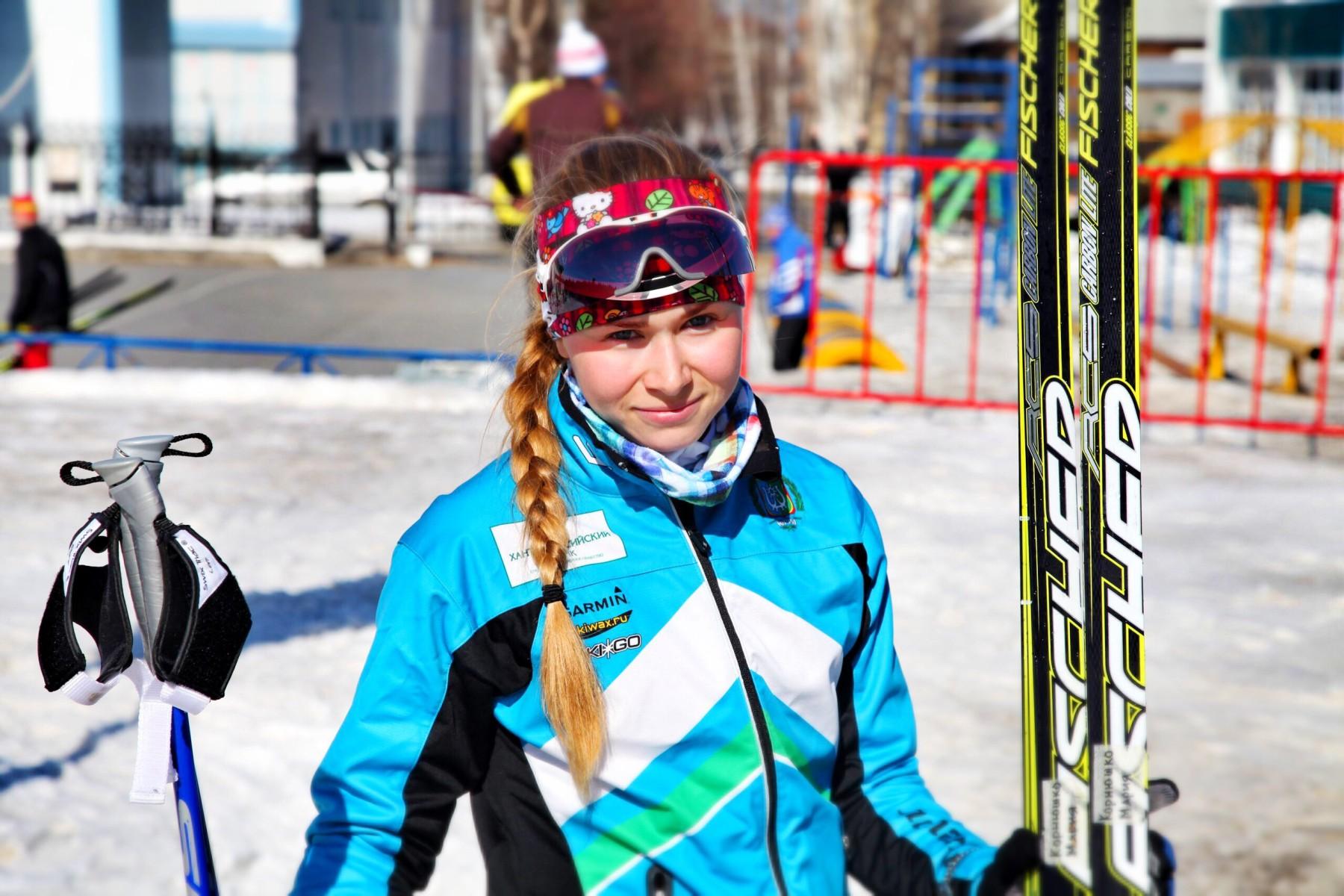 Лыжница Мария Корнюшко из Ханты-Мансийска