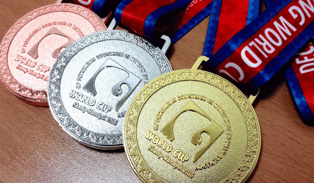 медали кубка мира среди нефтяных стран