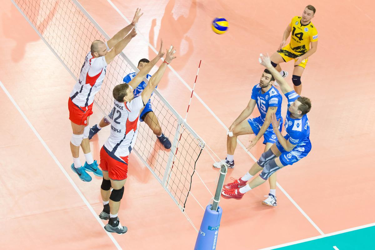 Газпром-Югра - Белогорье волейбольный матч