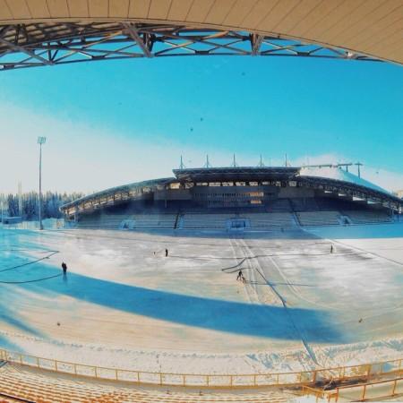 Открытый каток в Ханты-Мансийске