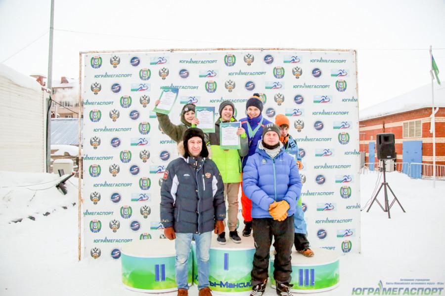 молодые сноубордисты