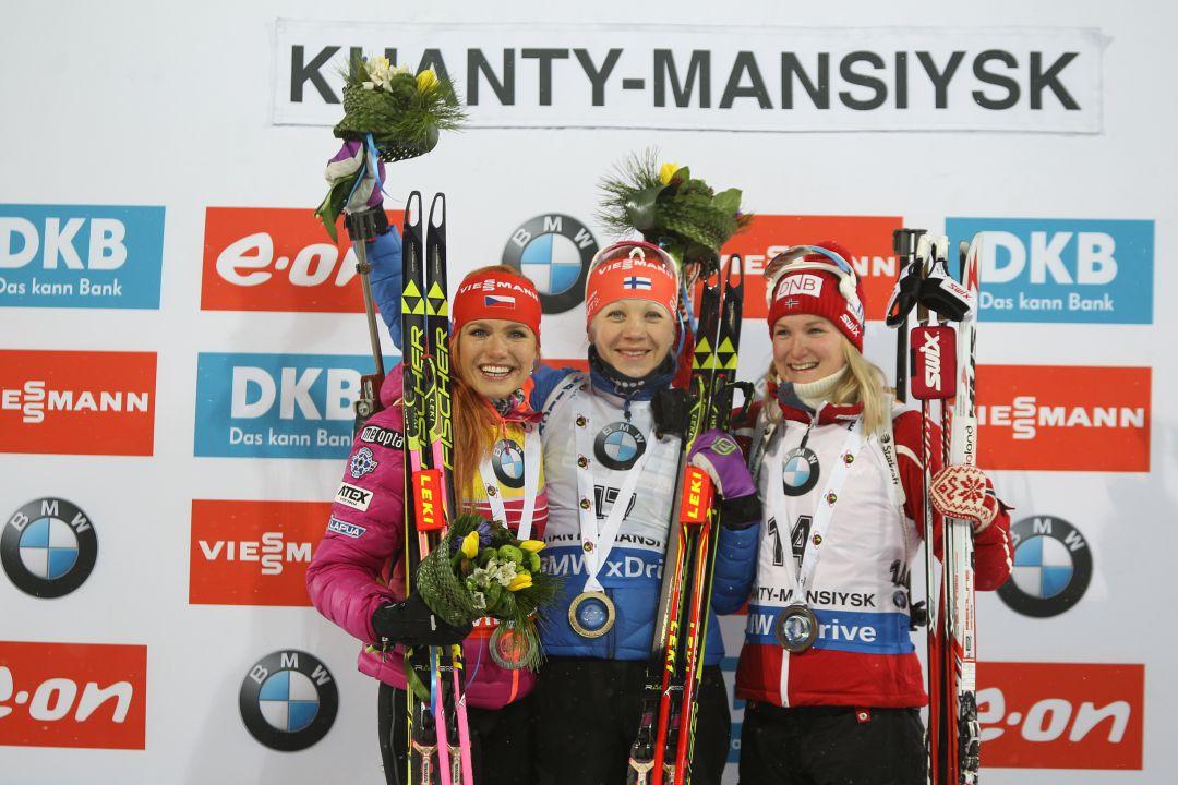 Итоги женской спринтерской гонкой в Ханты-Мансийске