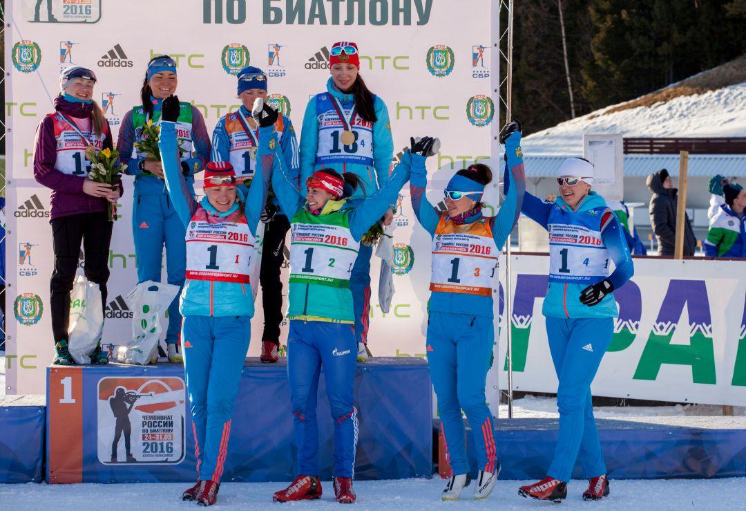 победители женской эстафеты на чемпионате России