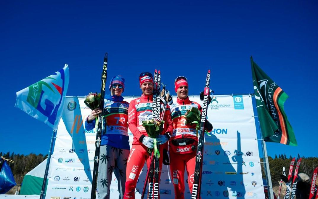 Победители Югорского лыжного марафона у мужчин
