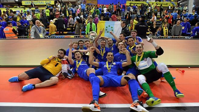 Празднование победы в кубке УЕФА