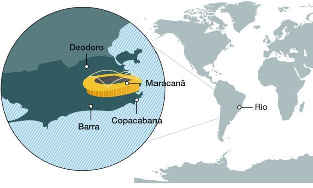 карта олимпиада Рио