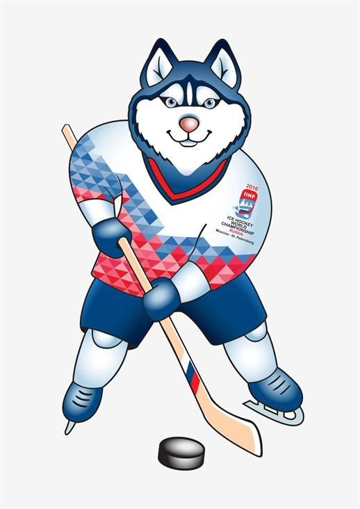 Маскот лайка чемпионата Мира по хоккею 2016