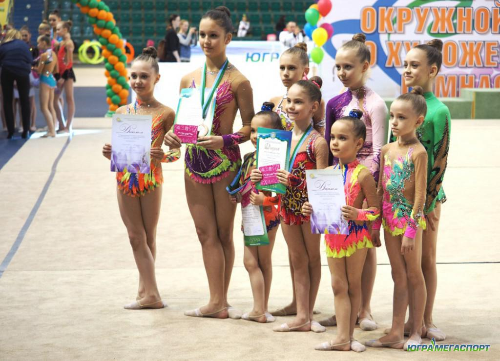 Юные гимнастки Тюменской области