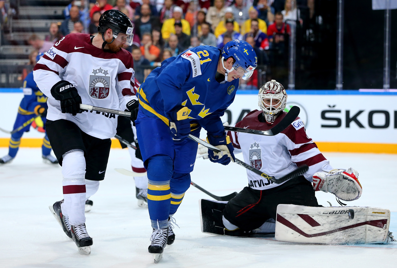 Латвия-Швеция хоккей