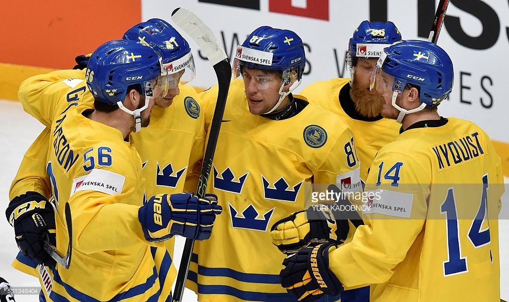 Швеция - Швейцария на чемпионате мира по хоккею 15 мая