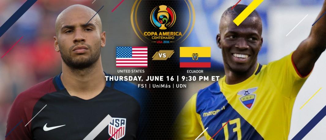 США - Эквадор На кубке Америки по футболу