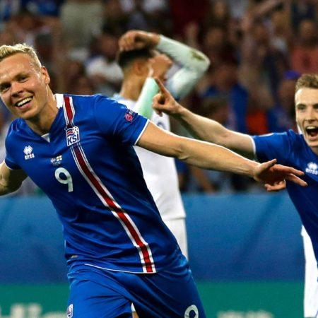 Сборная Исландии фот на чемпионате Европы по футболу