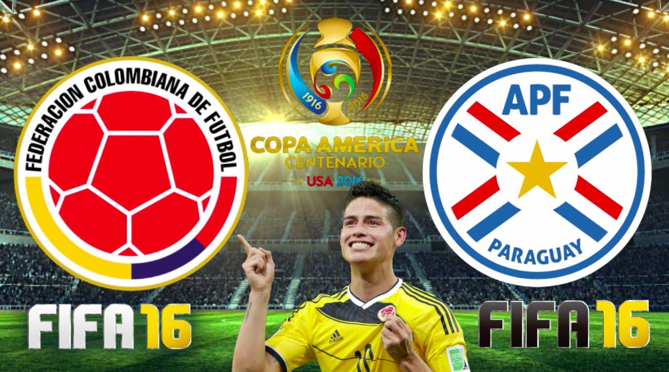 Колумбия - Парагвай на кубке Америки по футболу 2016