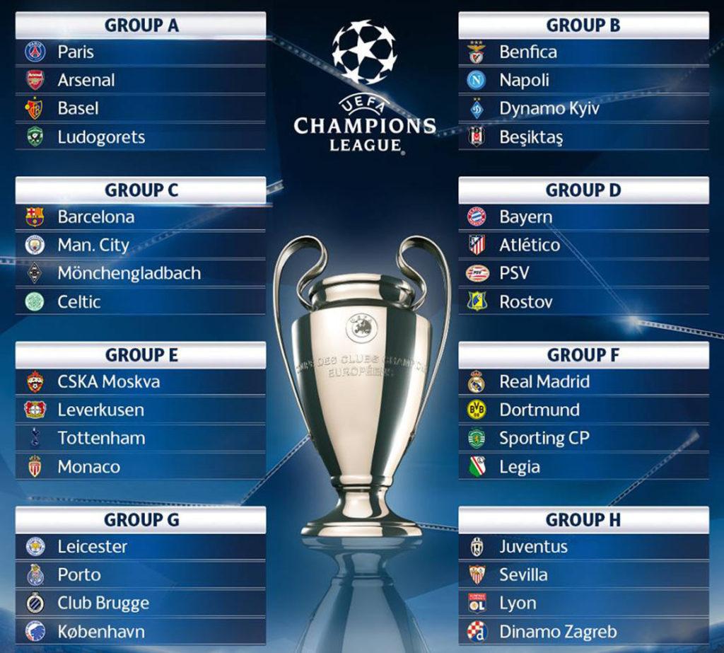 Календарь Лиги Чемпионов на печать 2016-2017