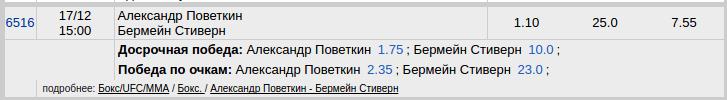 Александр Поветкин - Бермейн Стиверн