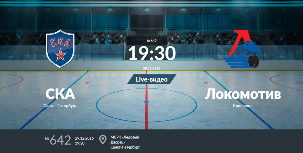 СКА - Локомотив 29 декабря 2016 года