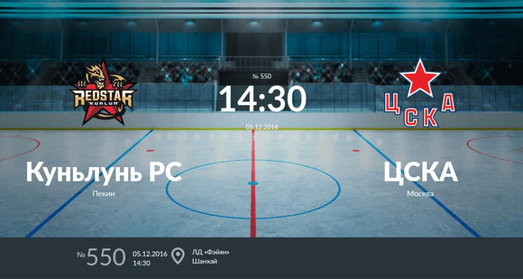Куньлунь Ред Стар - ЦСКА 5 декабря