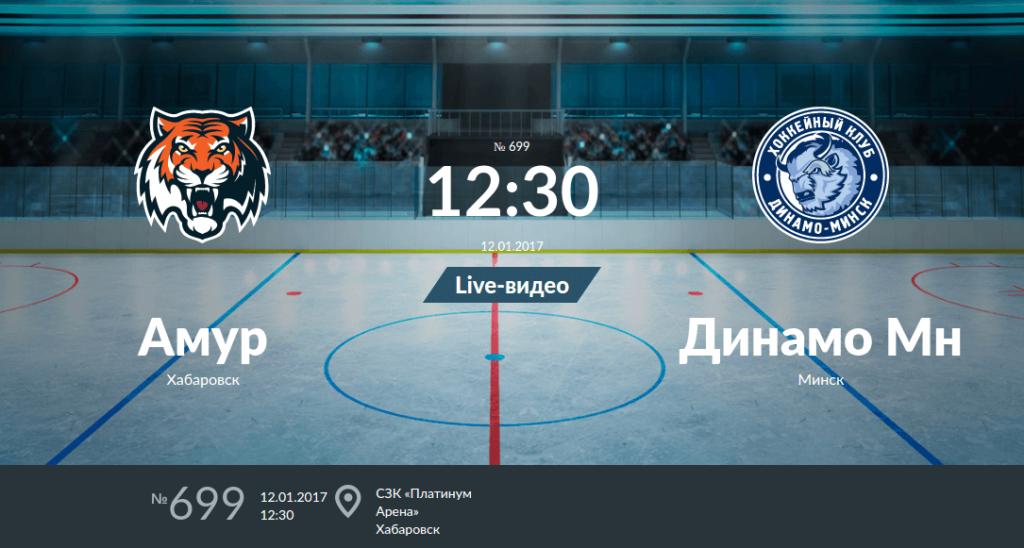 Амур - Динамо Минск анонс игры 12 января 2017 года