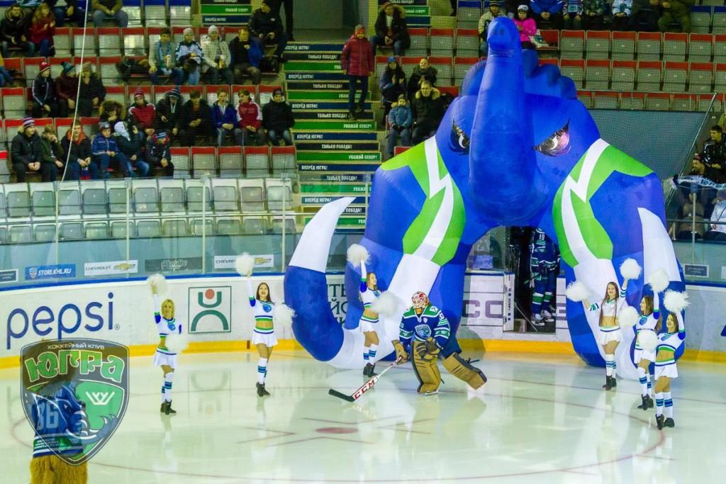 Открытие матча хк Югра арена Ханты-Мансийс