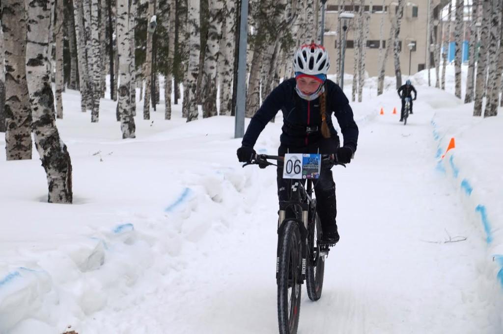 Югра велосипед зимой