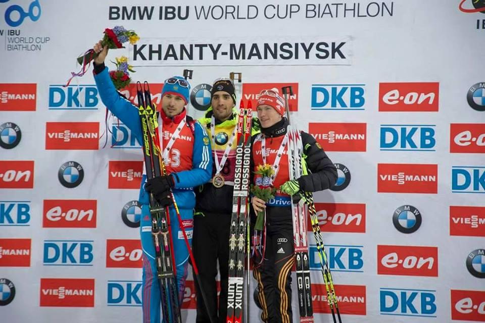 Награждение победителей мужской спринтерской гонки Ханты-мансийск