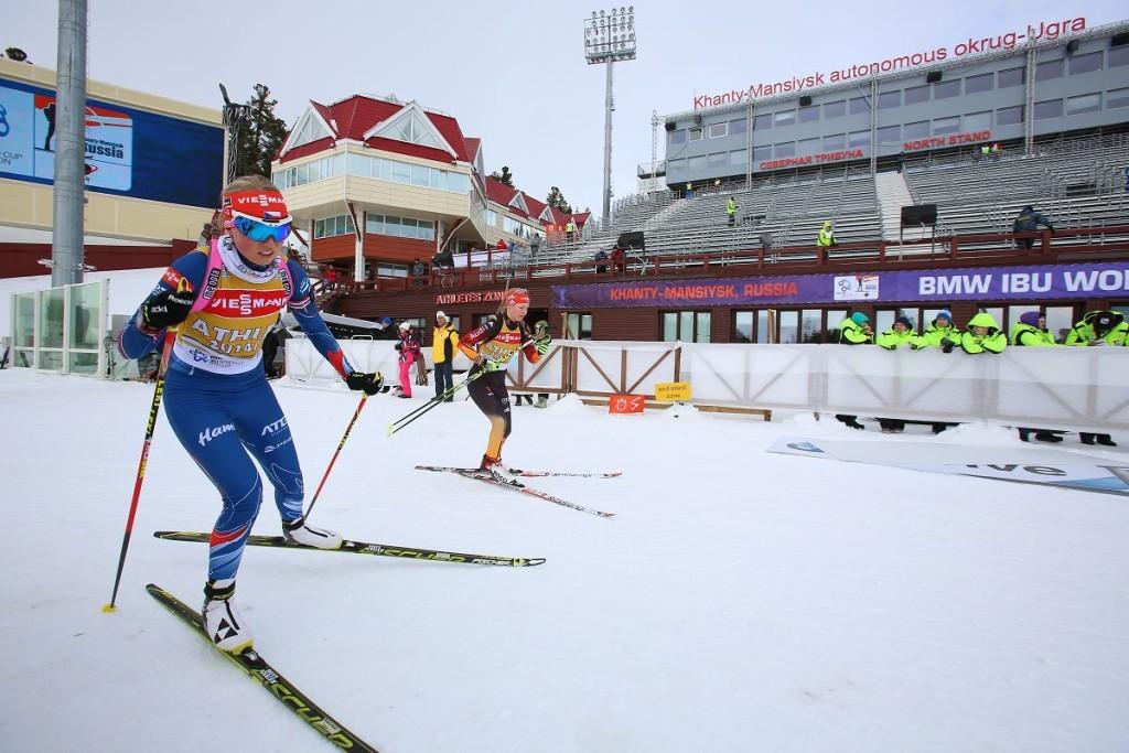 Биатлонистки в Ханты-Мансийске