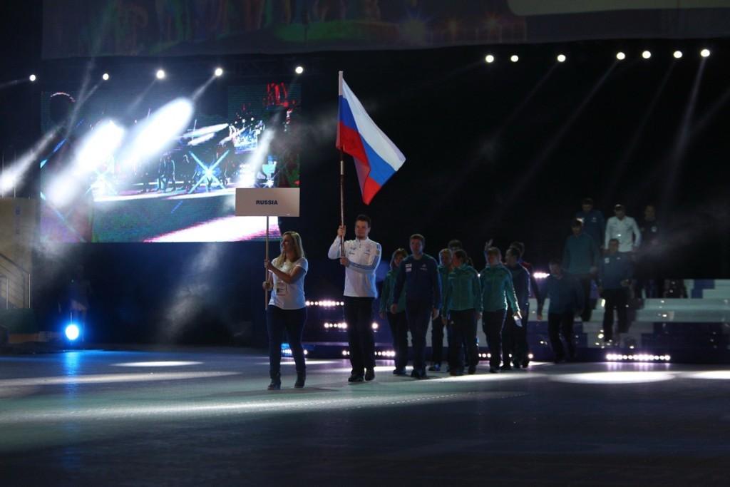 Выход российской сборной
