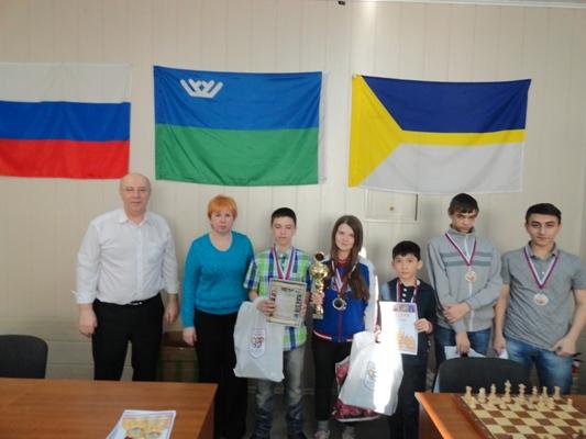 Награждение победителей. шахматного турнира