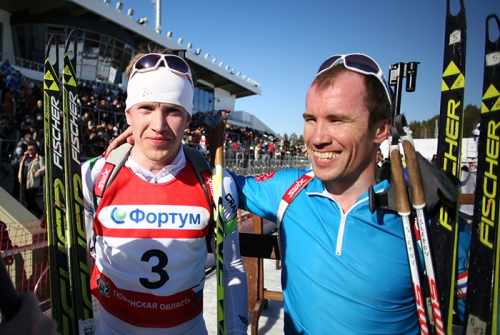 Алексей Волков и Алексей Слепов биатлон чемпионат России