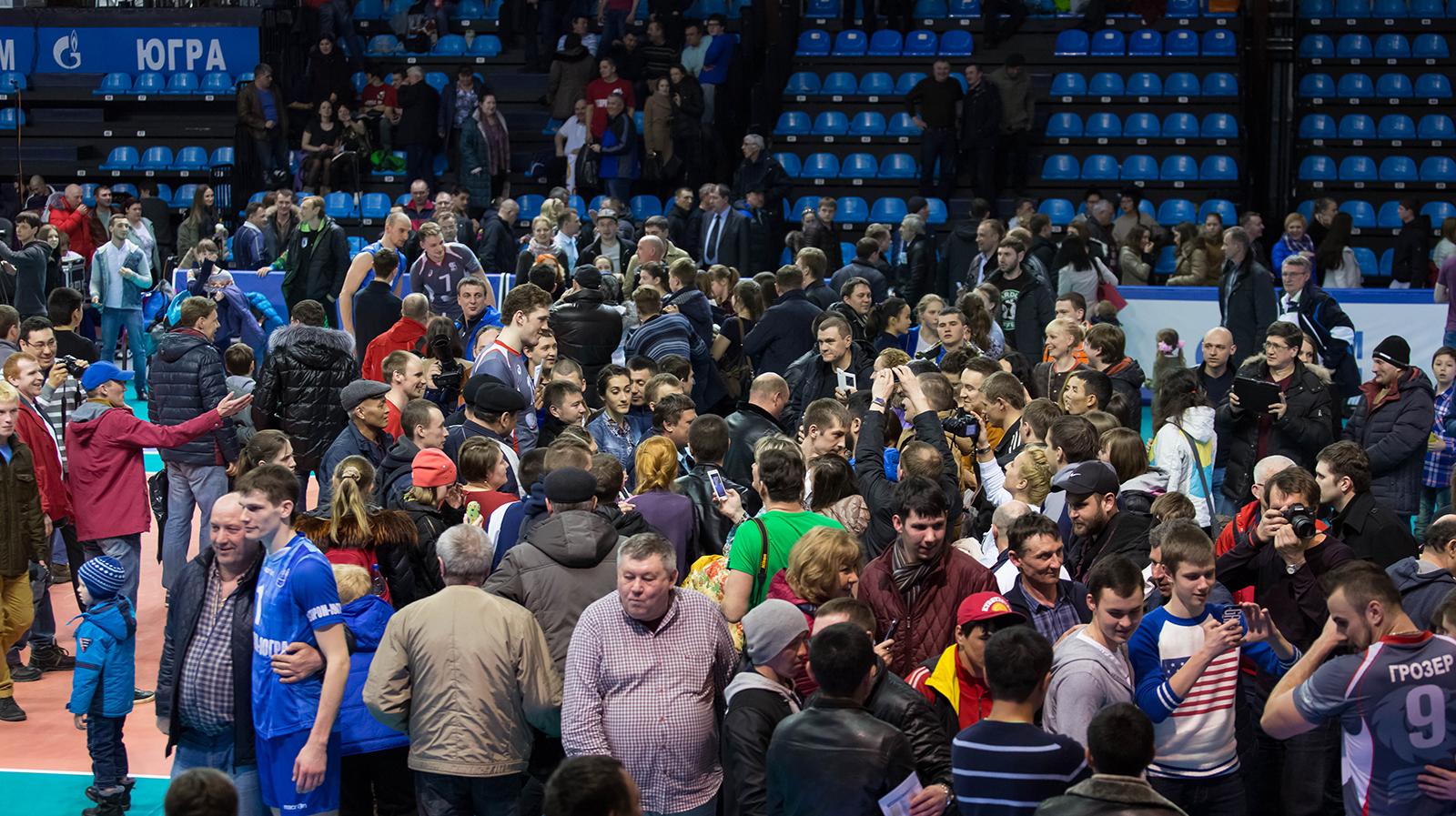 Сургут волейбольные болельщики Газпром-Югры