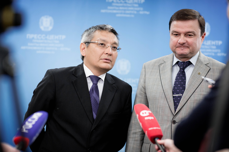 Берик Балгабаев и Игорь Крутько ХМАО