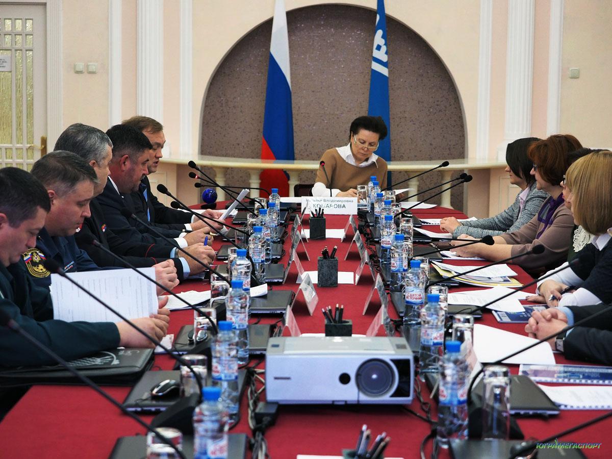 Заседание правительства Югры и Комаровой